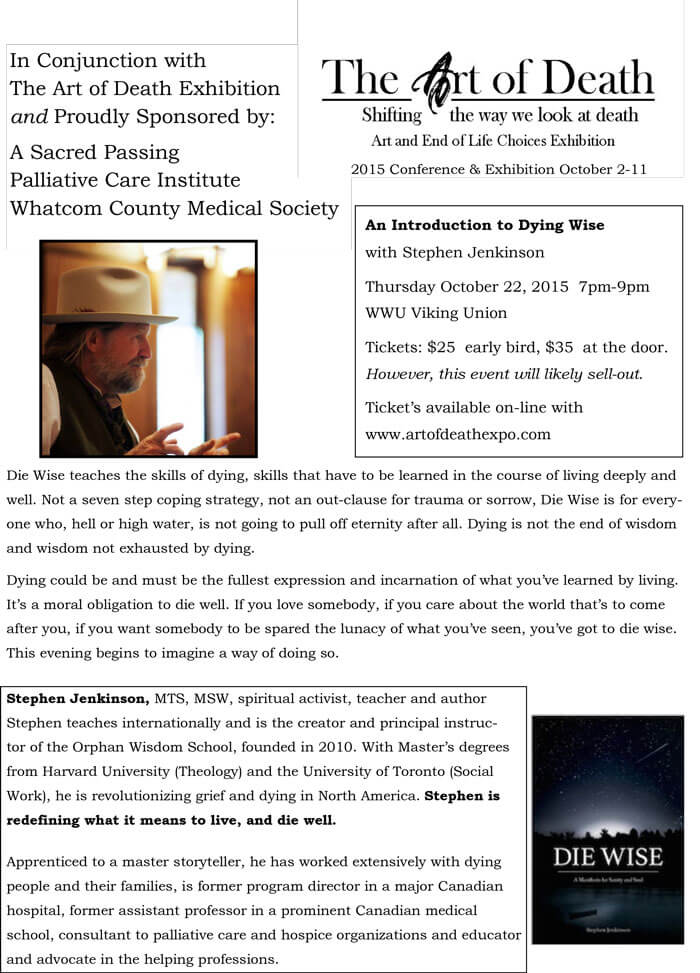 2015-10-22 BELLINGHAM Dying Wise - 1 page